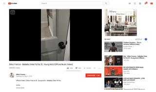YouTube nouveau lecteur vidéo verticale avant
