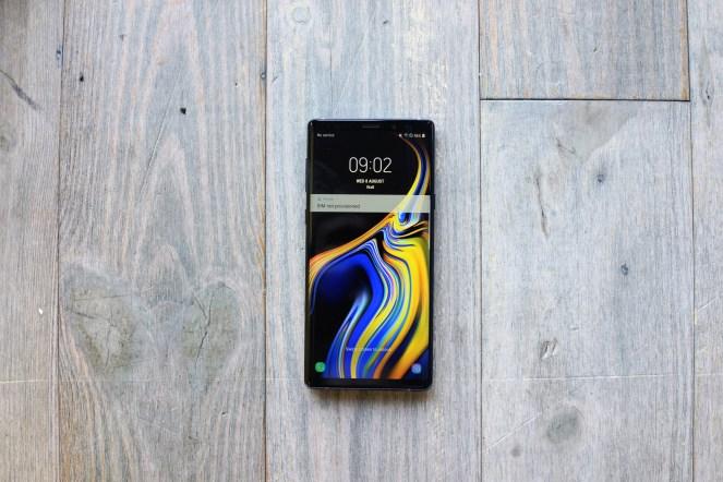 Samsung Galaxy Note 9 avant