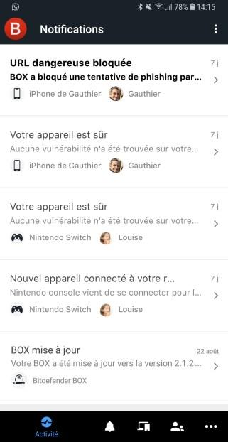 Screenshot application Bitdefender