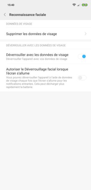Xiaomi Mi 8 MIUI biometrie (2)