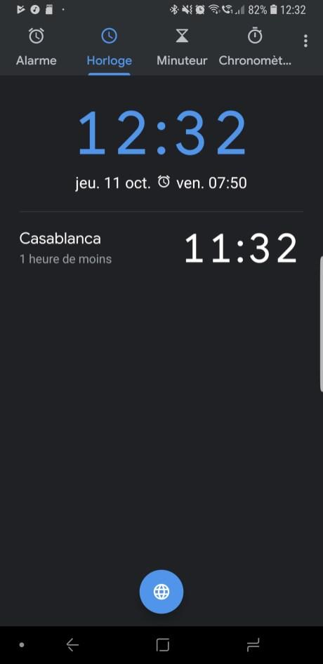 Google Horloge sc