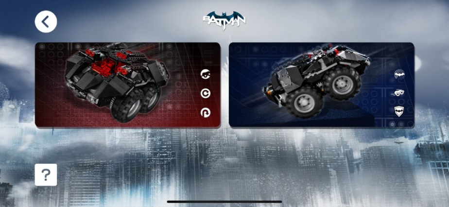Test Lego DC COMICS Super Heroes Batmobile radiocommandée capture apps fond bleu 1
