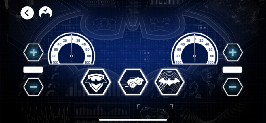 Test Lego DC COMICS Super Heroes Batmobile radiocommandée capture apps fond bleu 2