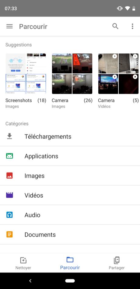 Google Files Go ancienne UI (6)