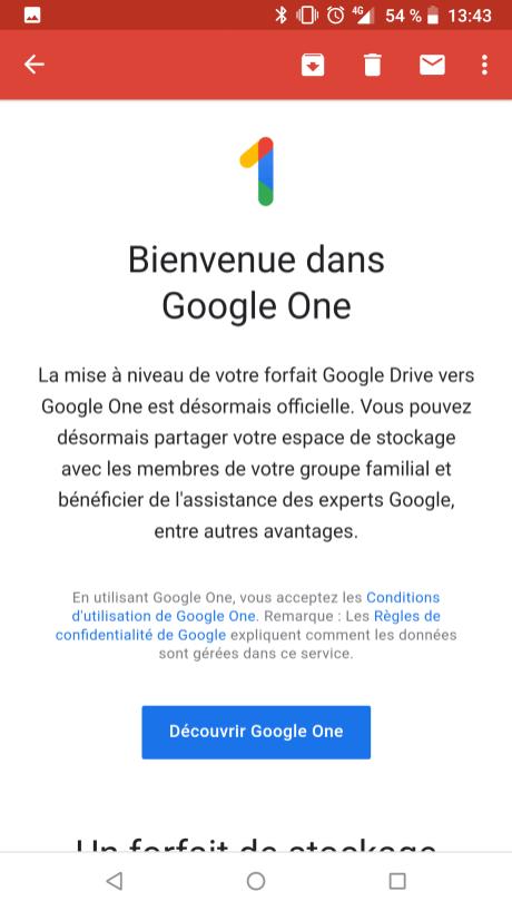 Google One tarif en France (5)