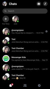 Facebook Messenger dark ui 1
