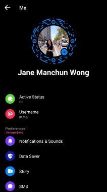 Facebook Messenger dark ui 4