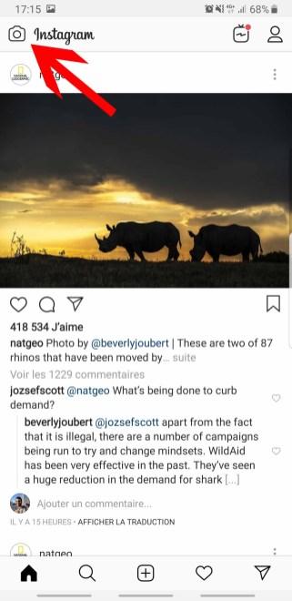 Instagram story 1