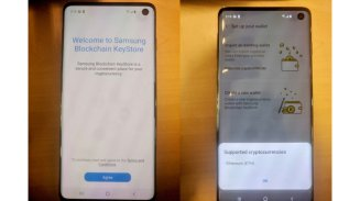 Samsung Galaxy S10 photos blockchain hole infinity o écran