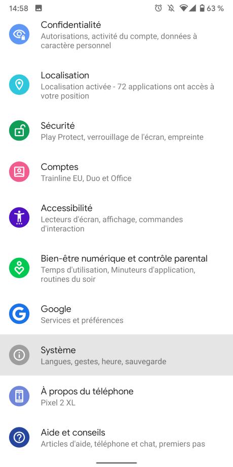 Sauvegarde Android 1