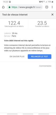 Speedtest Google smartphone résultats
