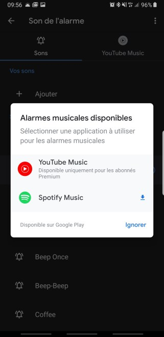 Google Horloge Youtube Music 2