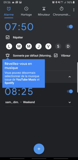 Google Youtube Music Clock