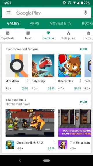 google-play-store-premium-catego