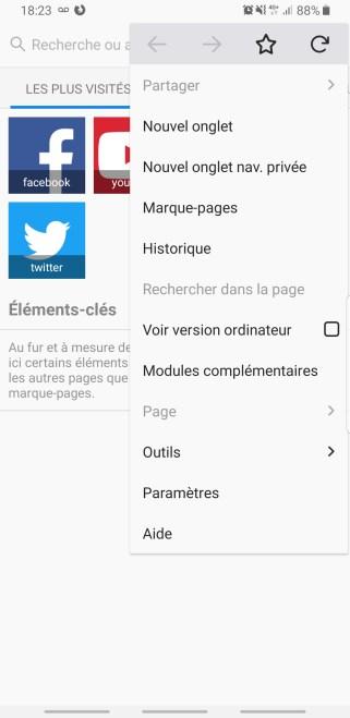 Mozilla Firefox navigation privée