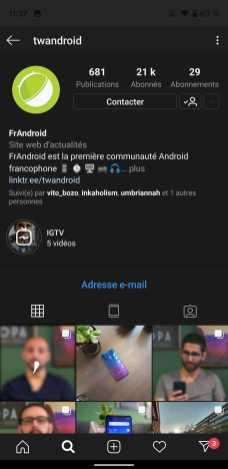 Instagram Sombre