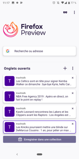 Firefox Preview 1