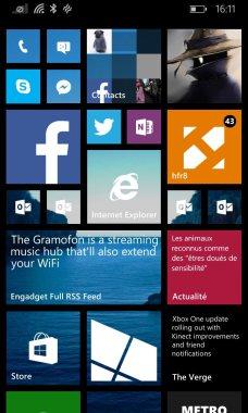 Windows Phone 8.1 lanceur UI 1