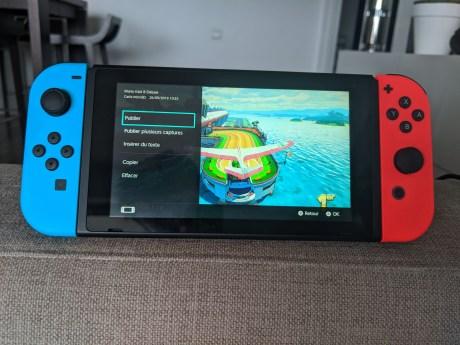 Menu de publication d'image sur Switch
