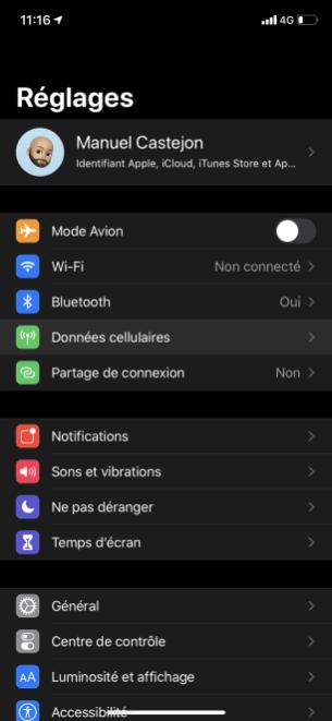 Changer PIN iphone 1