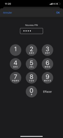 Changer PIN iphone 5