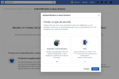 Facebook double authentification 2