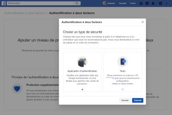 Facebook double authentification 2