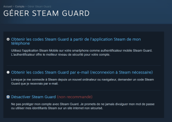 Steam double authentification 2