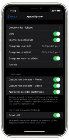 iPhone 11 Camera UI parametres (1)