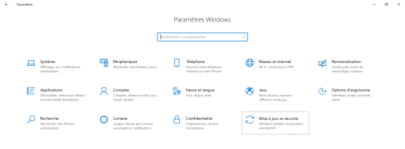 Réinitialiser windows 10 1
