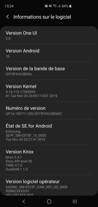 One UI 2.0 Galaxy S10 plus samsung