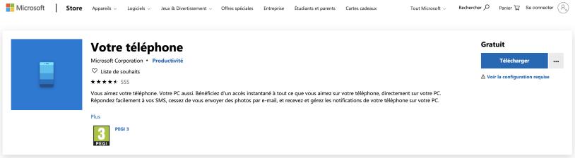 Téléchargez et installez l'application sur le Microsoft Store...