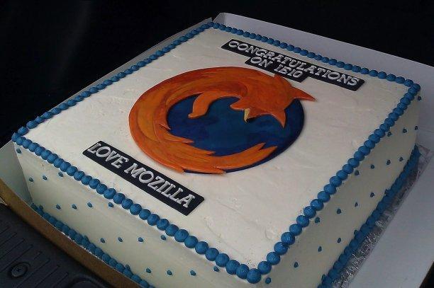 Mozilla Firefox gateau