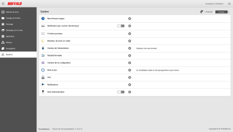 Buffalo TeraStation - 2 - Interface web