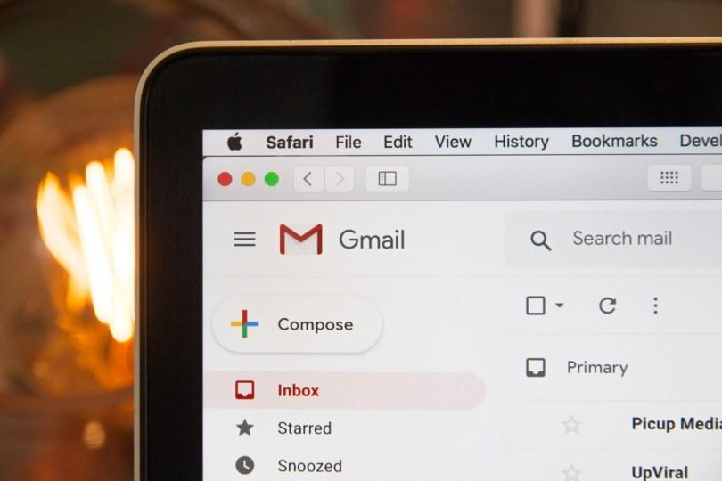 Interface Gmail web