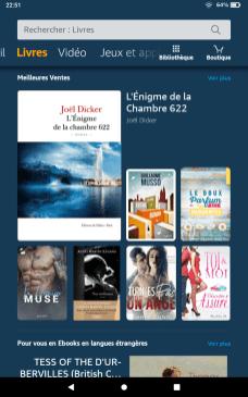 Captures d'écran Amazon Fire OS 7 3