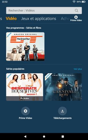 Captures d'écran Amazon Fire OS 7 4
