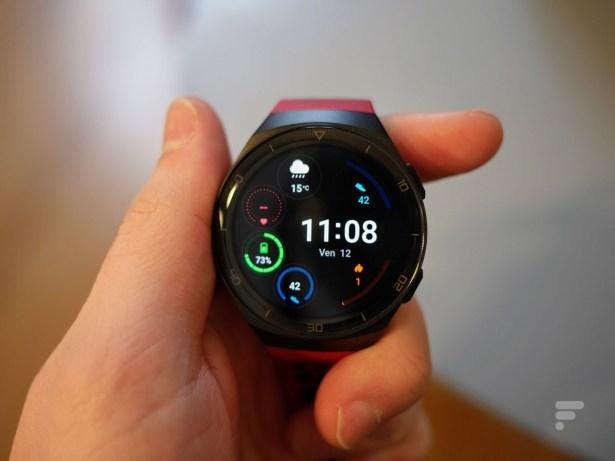 Le cadran de la Huawei Watch GT 2e