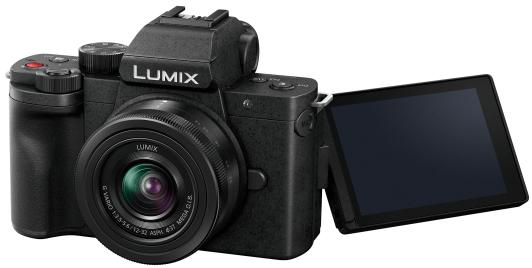 Le Panasonic Lumix G100 de dos