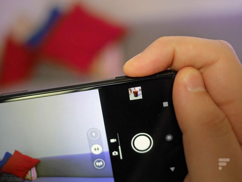 Le bouton déclencheur photo du Sony Xperia 1 II