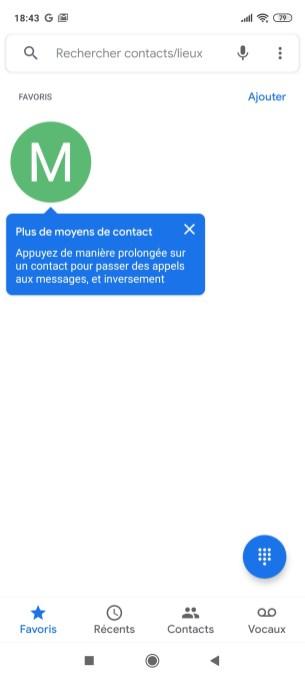 L'app Téléphone de Google