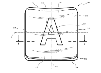 Un brevet pour une touche de clavier en verre déposé par Apple // Source : Apple / USPTO