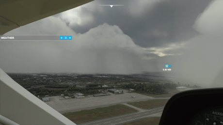 Le même aéroport avec un temps orageux // Source : Frandroid