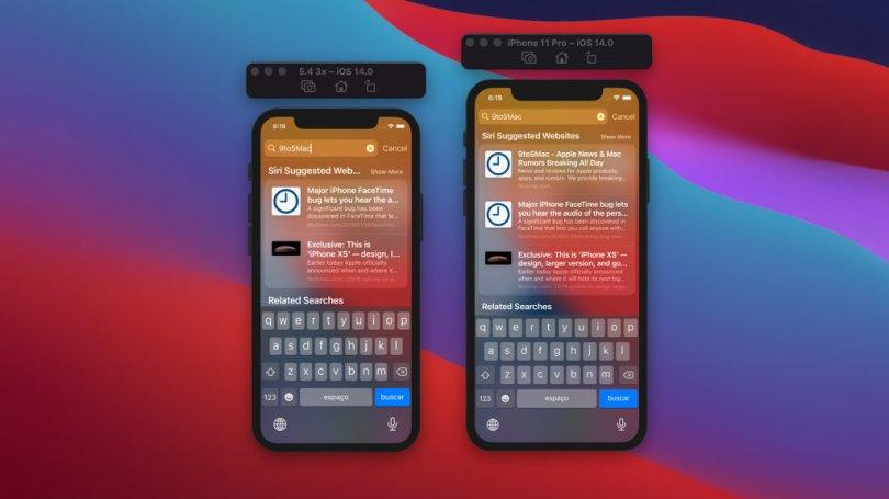 Aperçu d'iOS 14 sur un iPhone de 5,4 pouces