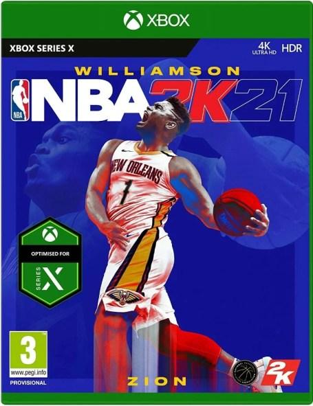 La couverture du jeu NBA 2K21