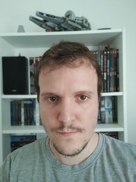 Selfie en mode portrait du Realme X50