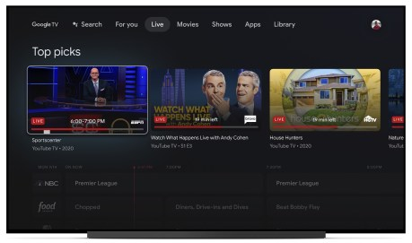 L'expérience Google TV
