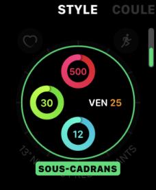 Apple Watch watchOS 7 cadran personnalisation