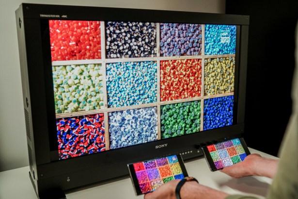 Les conditions de test des écrans de smartphone en termes de colorimétrie // Source : DxOMark