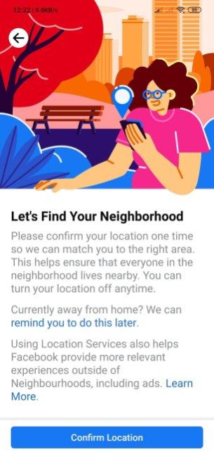 Facebook «Neighborhoods»